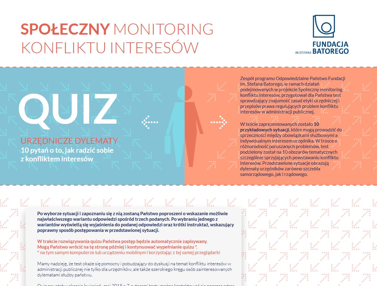 Społeczny monitoring konfliktu interesów